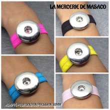 Lot de 5 Bracelets pour 1 maxi bouton pression chunk interchangeable