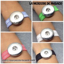 Lot de 5 Bracelets pour 1 maxi bouton pression chunk interchangeable (lot 2)
