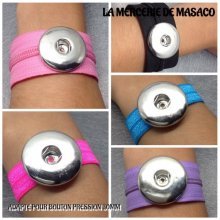 Lot de 5 Bracelets pour 1 maxi bouton pression chunk interchangeable (lot 3)