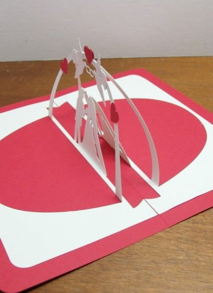 Carte pop up faire part de mariage