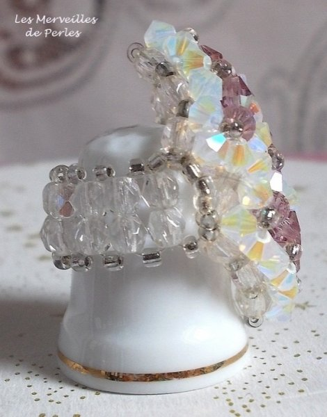 """Bague cristal """"Losange"""" une histoire de perles"""