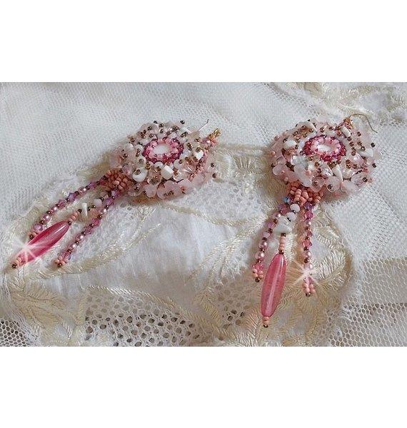 BO Rose Royale brodées avec des pierres de gemmes façon Huate-Couture