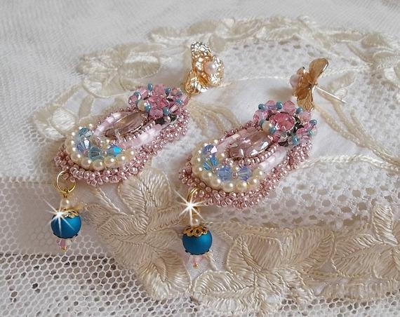 BO Bohême brodées avec des cristaux de Swarovski