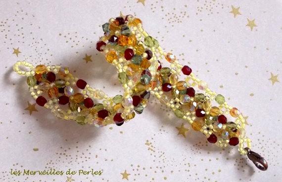 Bracelet Provençal avec des toupies en cristal de Swarovski et des facettes