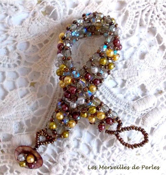 Bracelet en perles Boutons nacrées, un jeu de perles