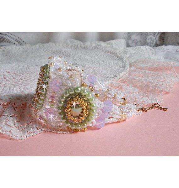Bracelet Envolée Fleurie tout en perles Miyuki et Swarovski
