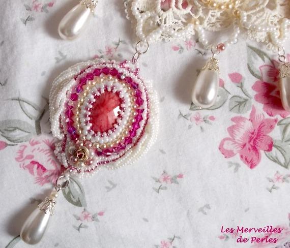 """Collier Victorien """"Valmont"""" bijou somptueux avec ces perles très douces."""