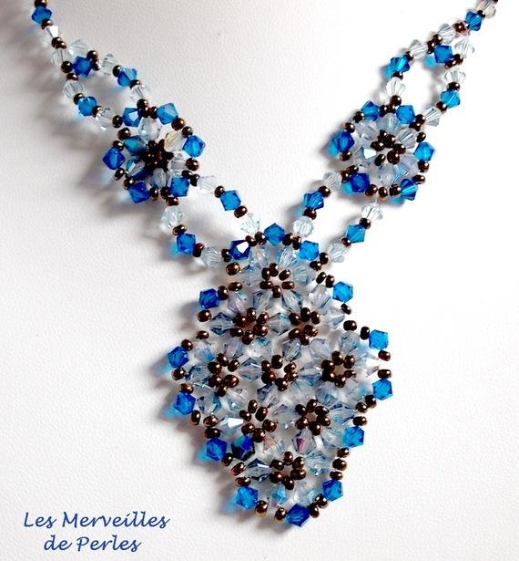 Collier cristal Arabesque cristaux de perles