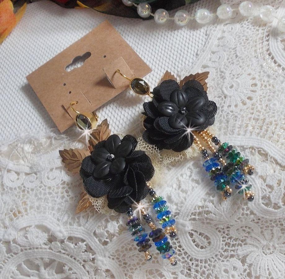 BO Attrape-Rêves Noir et Doré Pampilles avec de beaux cristaux