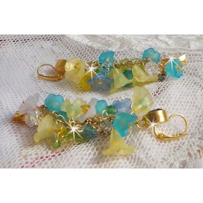 BO Bella Yellow avec des cristaux de Swarovski