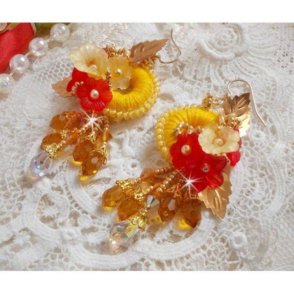 BO Bouton d'Or avec des cristaux de Swarovski
