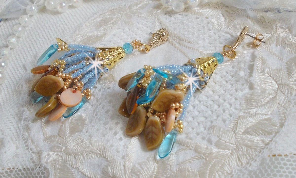 BO Cheyenne avec des sequins en nacre et des dagues en verre de bohème