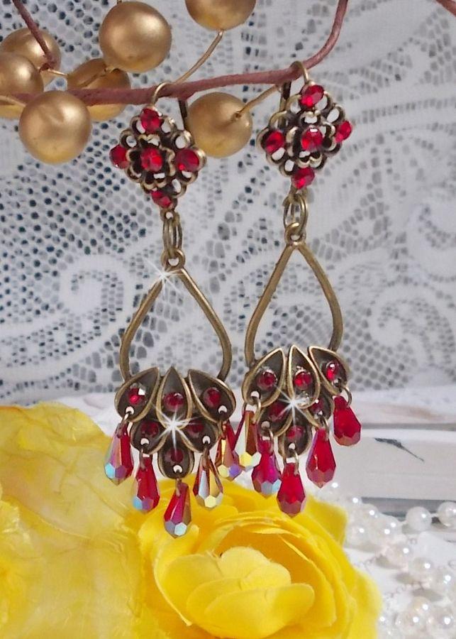 BO Collection Irrésistible Rubis montées sur des chandeliers avec des cristaux de Swarovski