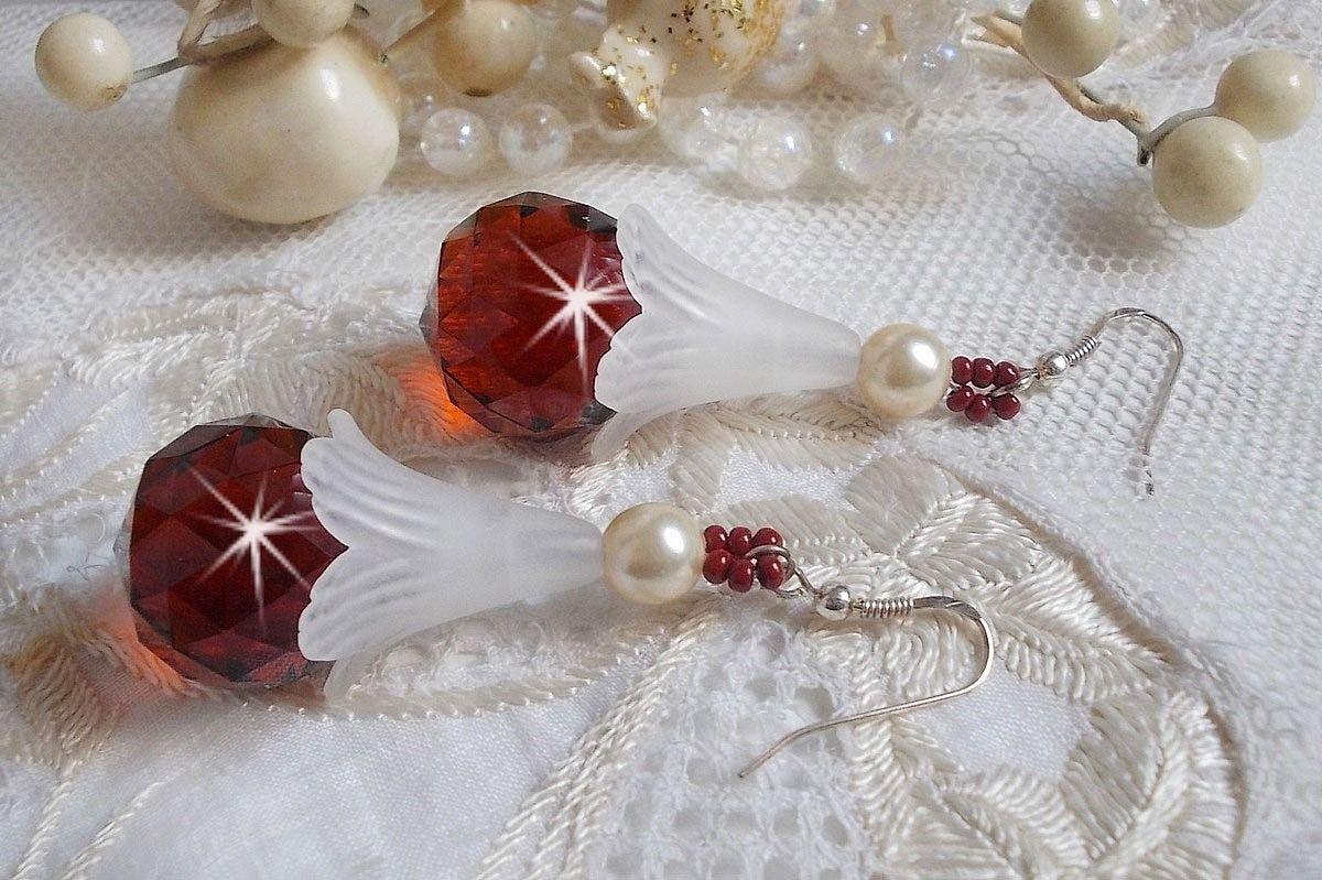 BO Marielle avec des cristaux de Swarovski et des boules facettées en cristal de Bohème