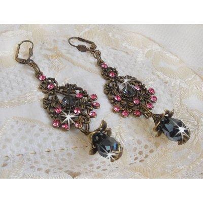 Boucles d'oreilles Collection Irrésistible Love avec des cristaux de Swarovski