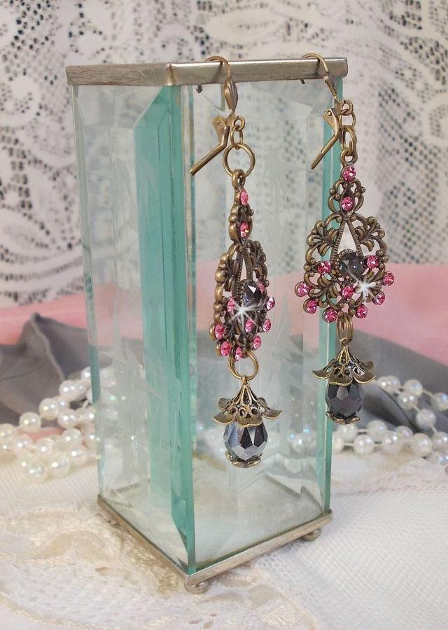 BO Collection Irrésistible Love avec des cristaux de Swarovski montées sur des chandeliers filigranés de couleur bronze