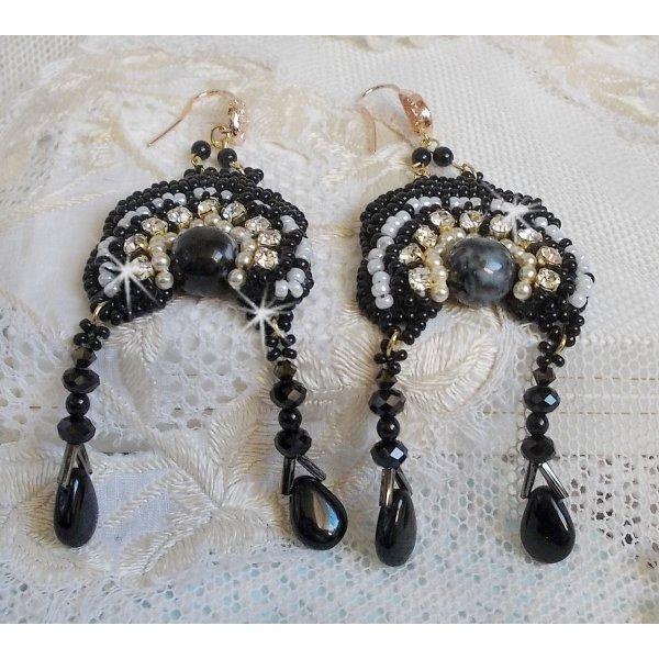 BO Féerie Black aux formes très design et belles perles de qualité.