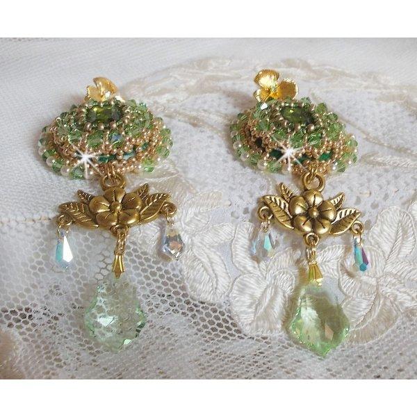 BO Garden Party brodées avec des cristaux de Swaroski