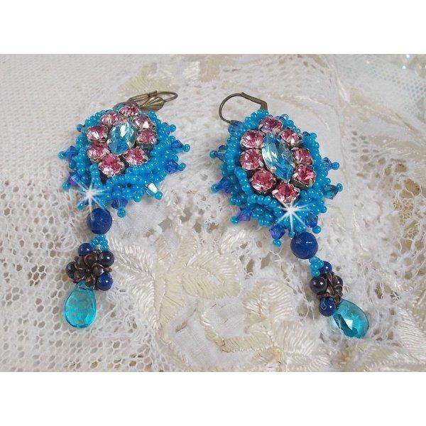 BO Belle Epoque brodées avec des perles en Cristal de Swarovski, métal et autres belles perles façon Haute couture