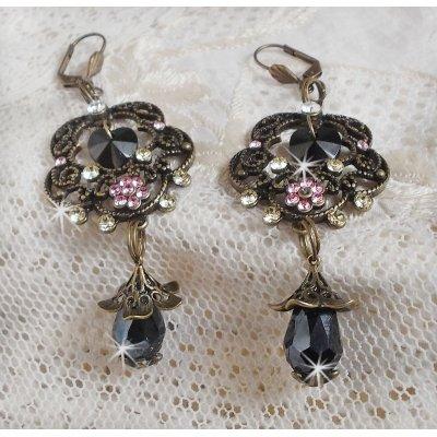Boucles d'oreilles Collection Irrésistible Passion avec des cristaux de Swarovski