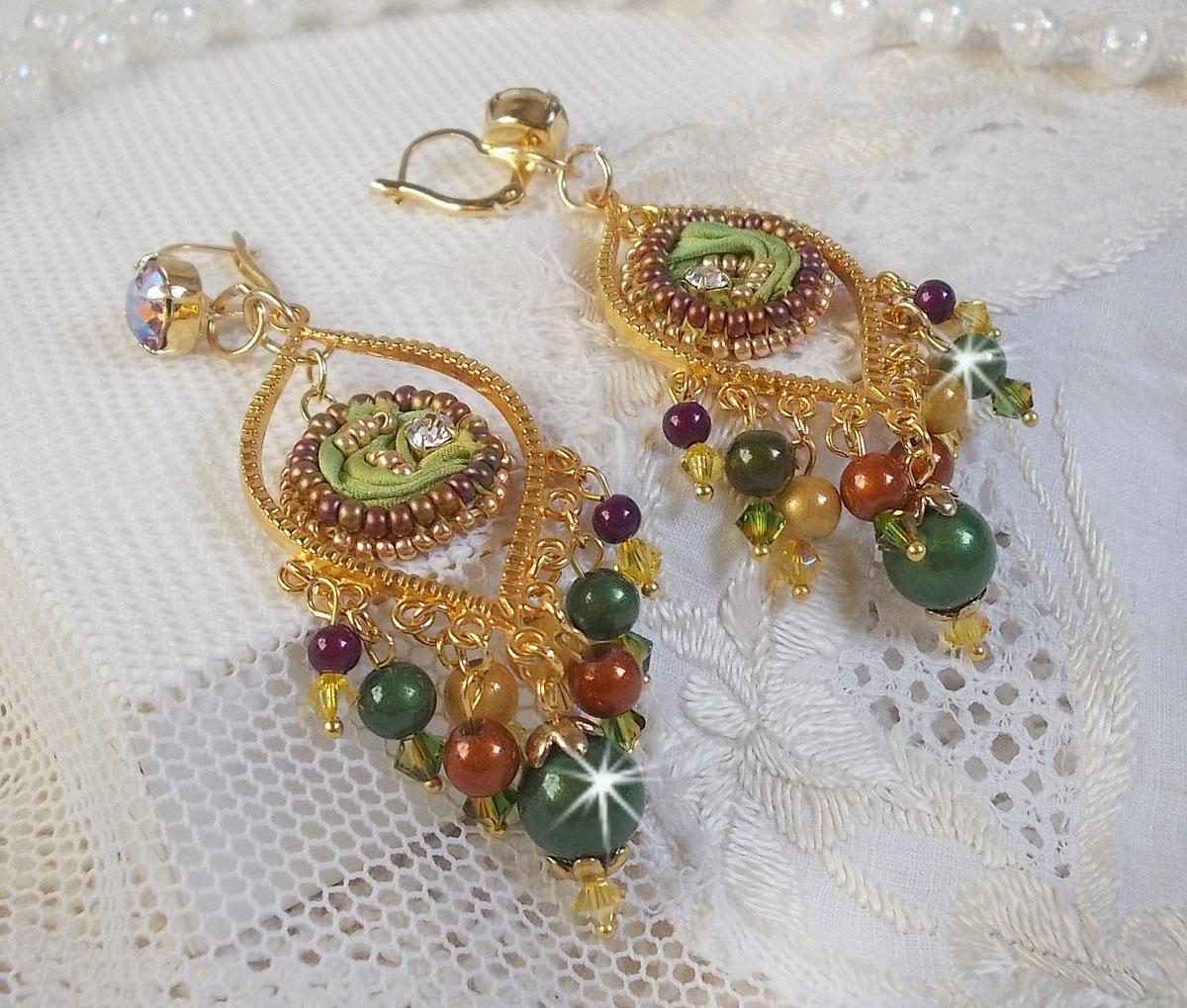 BO Lune Vénitienne tès originales avec cette soie et les cristaux de Swarovski