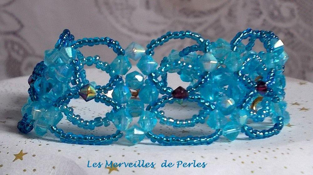 Bracelet cristal Syracuse avec des facettes et des toupies