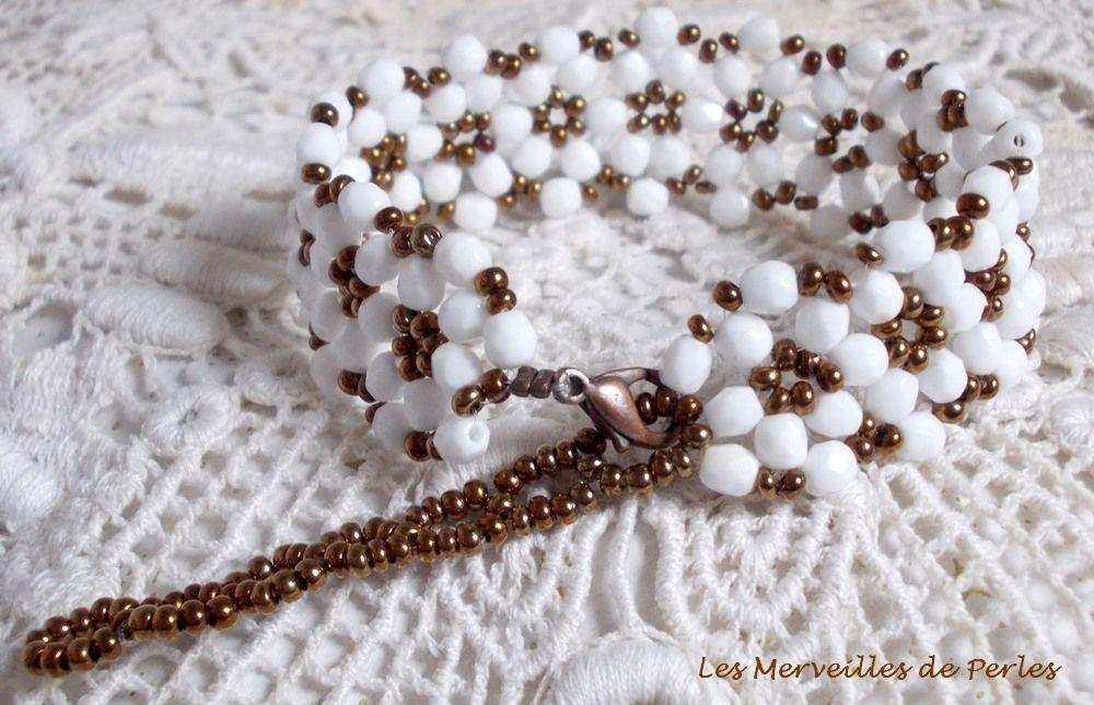 Bracelet en perles de verre Horizon avec des facettes en crystal de bohème