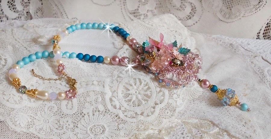 Collier Bohême avec de beaux cristaux de Swarovski