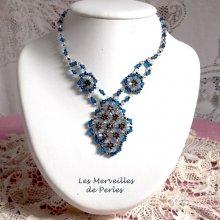 """Collier cristal """"Arabesque"""" cristaux de perles"""