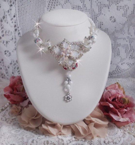 Collier Nuit Etoilé avec des perles semi-précieuses et Cristaux de Swarovski