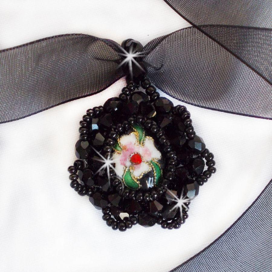Collier pendentif Cybelle avec un murano de couleur