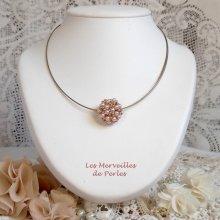 """Collier pendentif en perles nacrées """"Boules Nacrées"""" une ronde de perles"""