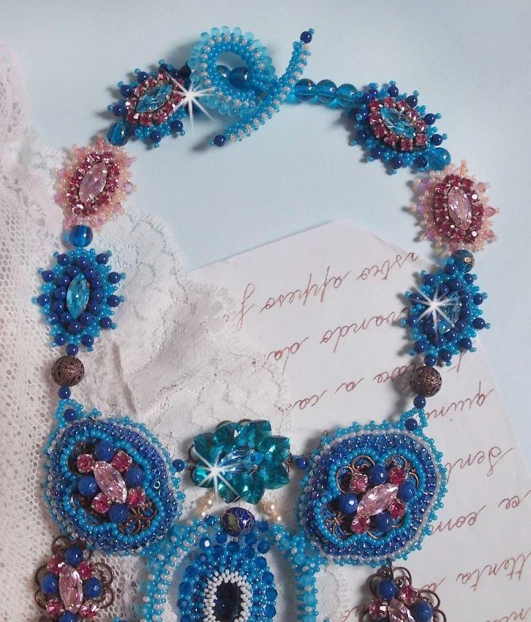 Collier plastron Belle Epoque, une création design façon Haute-Couture