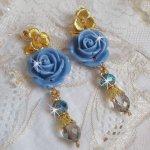 BO Bell'issim Rose Bleu Barbeau avec des Cristaux de Swarovski et du cristal de Bohême