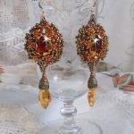 BO Harmony Ambre brodées avec de très belles perles