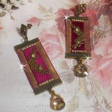 BO Vintage Arabesque crées avec des galons Bordeaux, des cristaux de Swarovski et de beaux accessoires
