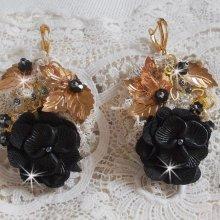 BO Attrape-Rêves Noir et Doré Ondulées avec des perles de qualité