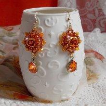 BO Lady in Orange crées en Crystal de Swarovski, rocailles et perles orangées.