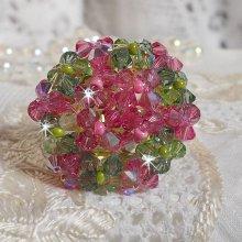 Bague cristal  Miss Lady avec ces cristaux de Swarovski