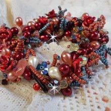 Bracelet en  perles Fleur de Chine de si belles perles