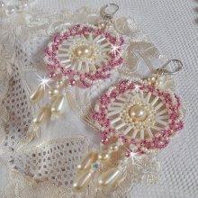 """Boucles d'oreilles en perles """"Détente"""" ronde de perles"""