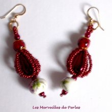 """Boucles d'oreilles perles """"Art'D des années 1950"""