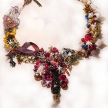Collier Printemps Coloré avec un  tourbillon de perles