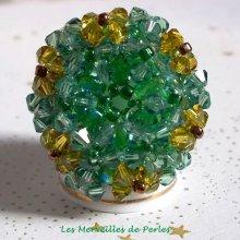 """Bague cristal """"Vert Tendre"""" vert sapin"""