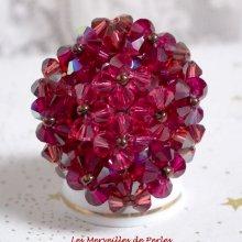 """Bague cristal """"Orchidée"""" rêve de perles"""