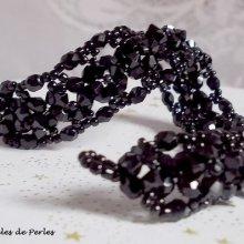 """Bracelet cristal """"Nuit Etoilée"""", toupies en fête"""
