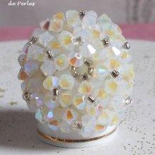 "Bague cristal ""Crystal"" élégance de perles"