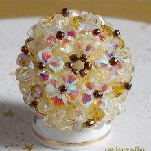 """Bague cristal """"Aurore"""" coup de coeur pour ce bijou"""