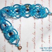 """Bracelet cristal """"Syracuse"""" bleu très coloré"""