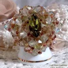 """Bague cristal """"Véronèse"""" transparente et lumineuse"""